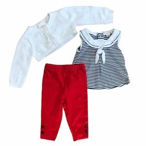 Baby girl nautical sailor outfit